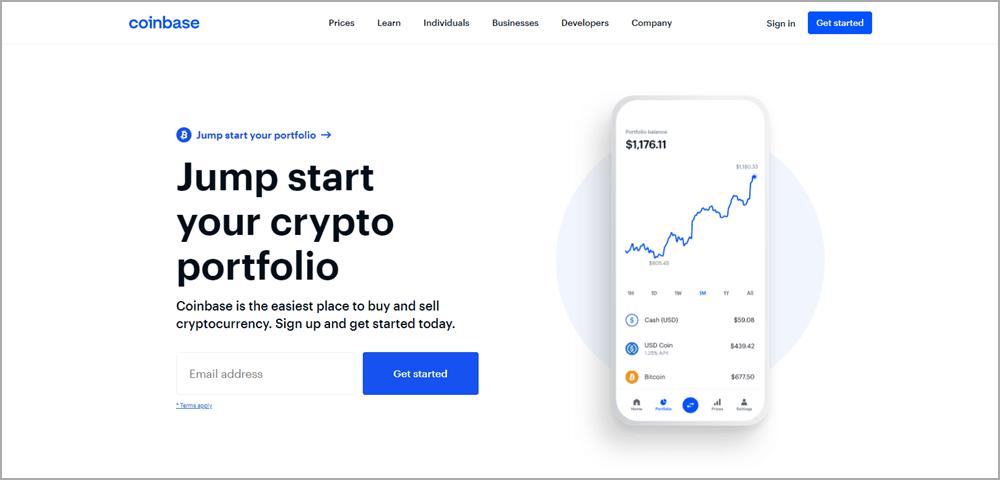 Sàn giao dịch tiền điện tử Coinbase