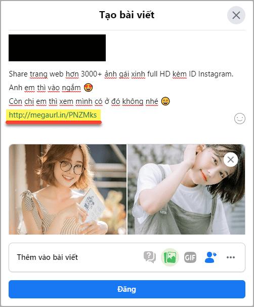 14 chia se link rut gon tren facebook
